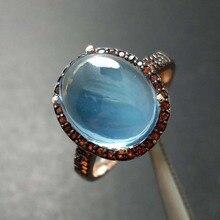 FLZB, большой размер, натуральный 6,8 карат, небесно-голубой топаз, ov10* 12, Женское кольцо с драгоценным камнем, серебро 925 пробы, с натуральным гранатом, маленький камень