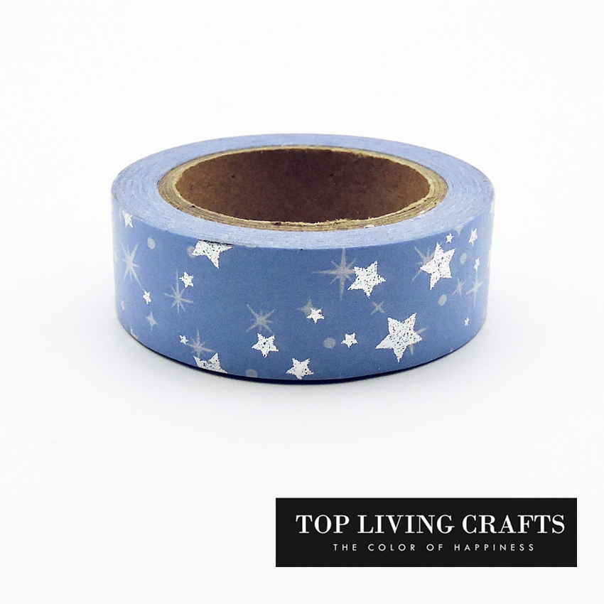 Christmas Star Foil Washi Tape Japanese Stationery 1.5*10meter Kawaii Masking Tape  School Tools Halloween