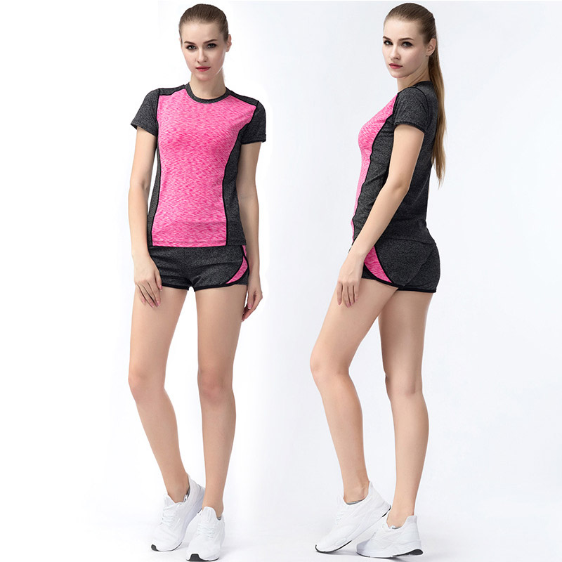 guangze tang's store Women Quick Dry Sport Yoga Set Yoga Shirt Shorts Pants Sportswear ,Breathable Fitness Running Jogging Gym Yoga Tops Sport Suit