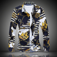 Men S Long Sleeved Floral Shirt Nightclub Men S Nightclubs Tide Men S Long Sleeve Blouse