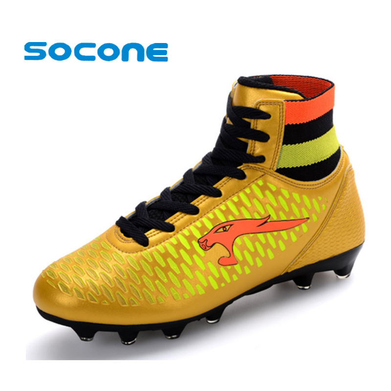 a60dd5b84c8 Mens Football Boots Cleats Long Spikes FG Men Soccer Boots Outdoor Training Soccer  Shoes Chuteira Futebol Sport Football Shoes