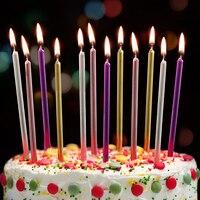 6Pcs1 коробка Цветной день рождения свечи для торта вечерние фестиваль поставки прекрасный день рождения свечи для Кухня выпечки подарки
