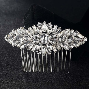 Blucome Bridal Accessories Nicely Flower Hair Accessories For Women Party Gifts Woman Wedding Bridal Combs Jewelry Hair clips