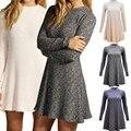 Вязаная мода Зима Платье Винтаж Платье Женщины Плюс Размер Алина Мини Милые Платья Для Женщин Плюс Размер Женской Одежды