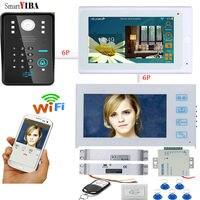 SmartYIBA IOS Andriod Wi Fi RFID пароль разблокировки двери Phone 12 В управления питания Электрический падения домофоны дверной Звонок