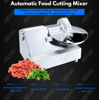 HLQ8 stainless steel commercial food cutting mixer food cutter machine for vegetable meat fillings 2