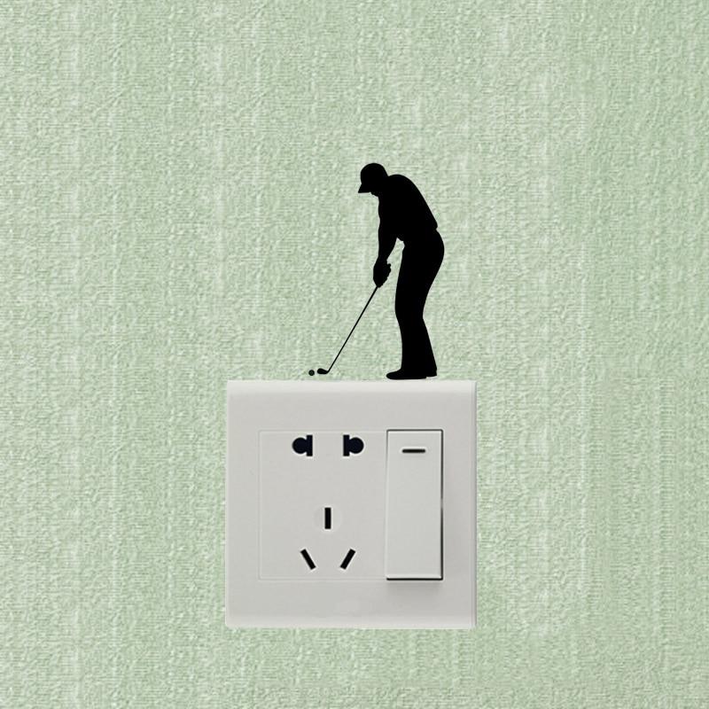 Sports Fashion Golf Cartoon Vinyl Wall Stickers Switch Decals 5WS0908