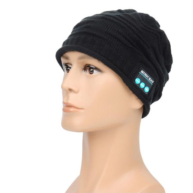 Sport Man Beanie Cap intelligent Bluetooth Smart Hat with Head set for all IOS Android Smartphones