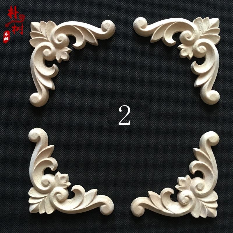 Moda esquina de madera flor moda apliques de madera esquina flor - Mueble - foto 4