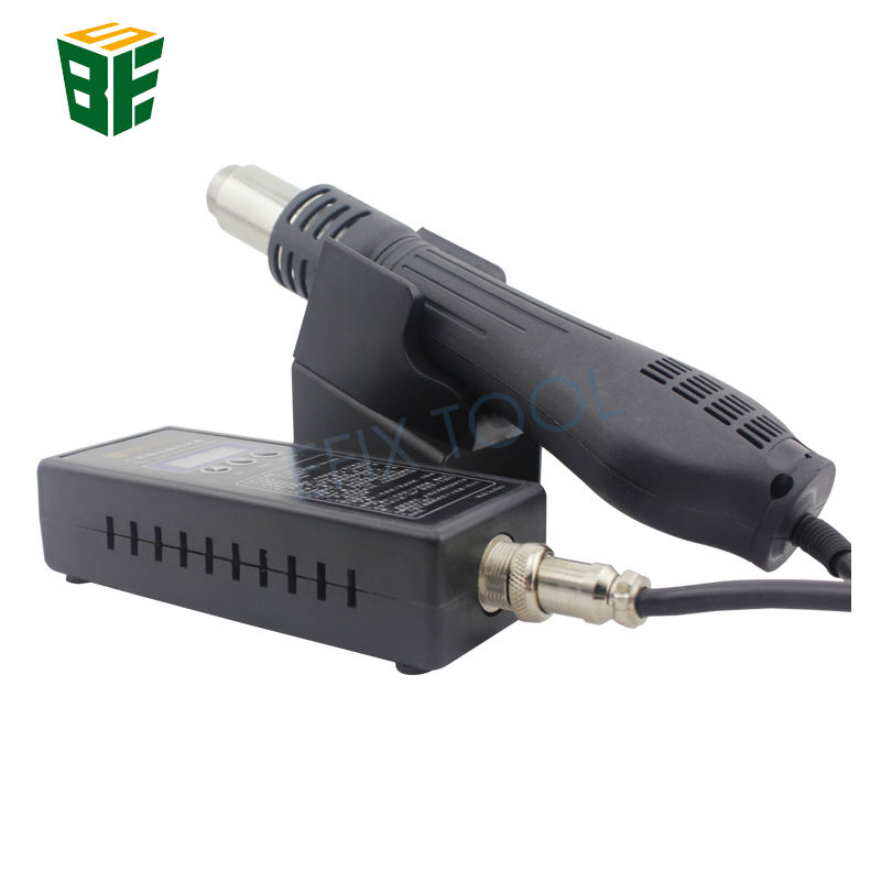 BST-8858 Portable Hot Air Gun BGA Rework Solder Station Temperature Adjustable Heat Gun LED Digital Display Welding Repair Tools bg removable bga rework solder lcd digital hot air gun heat gun welding toolsa rework station 220v portable