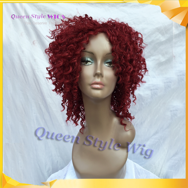 Rihanna Hairstyle African American Kinky Curly Hair Wig Synthetic