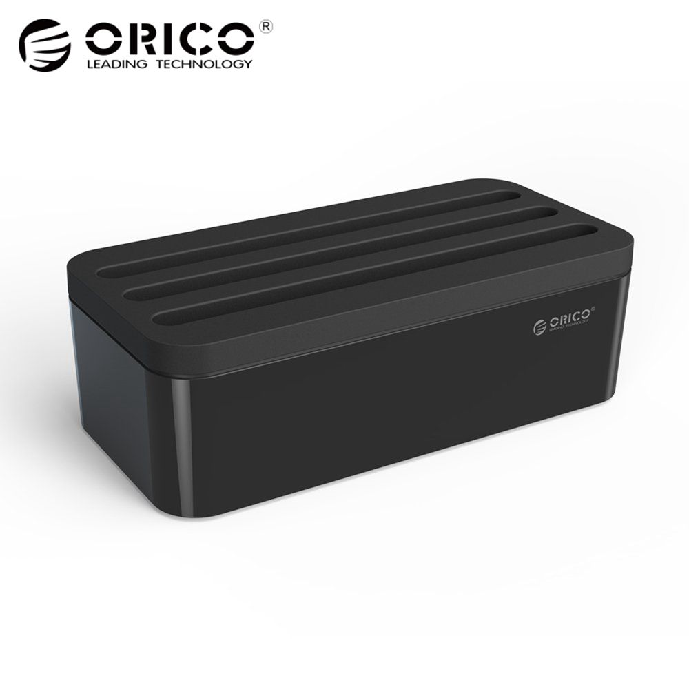 ORICO PB1028 charger Management Box with Phone Holder for power charger organizer ABS Fireproof case -Black and white стоимость