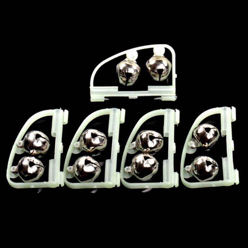10 unids/pack caña de pescar fluorescente Clip de Punta doble campana alarma anillo caja accesorio herramienta brillan en la oscuridad aparejos de pesca