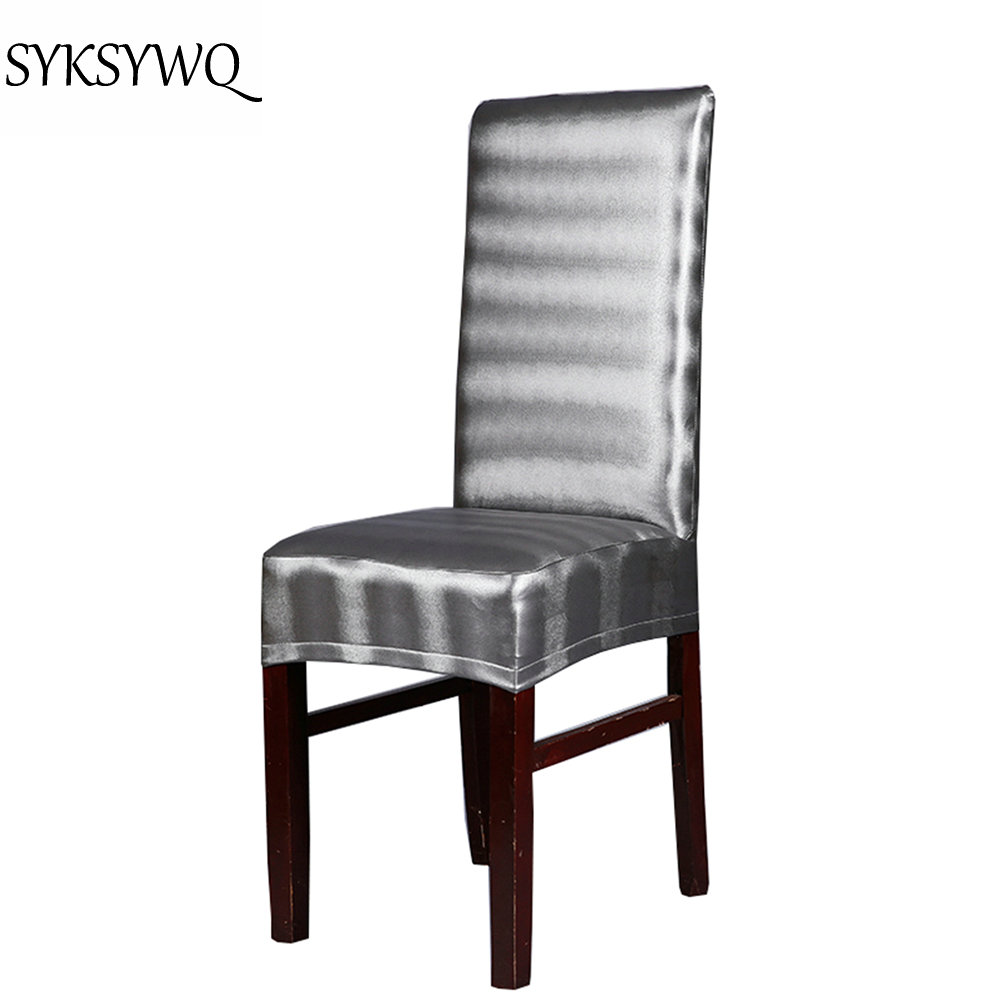 Silver Dining Chairs Us 7 5 Silver Dining Chair Cover For Chairs Pu Leather Factory Wholesale Cheap Price Housse Chaise Chair Cover In Chair Cover From Home Garden On
