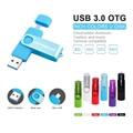 High Speed WANSENDA USB 3.0 OTG usb flash drive Metal pen drive 8gb 16gb 32gb memory stick u disk pendrive for Android phone