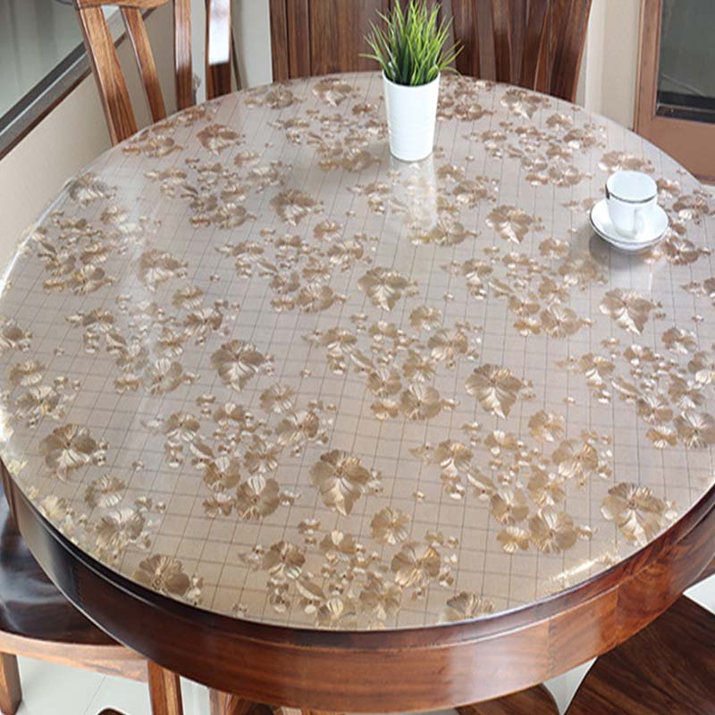 Balle Round Pvc Table Cover Protector Desk Pad Soft Glass Dining