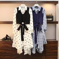 Plus Size 4xl Top And Skirt Women Two Piece Outfits Fashion Year old Female Costume Conjunto Feminino Ensemble Femme Survetement