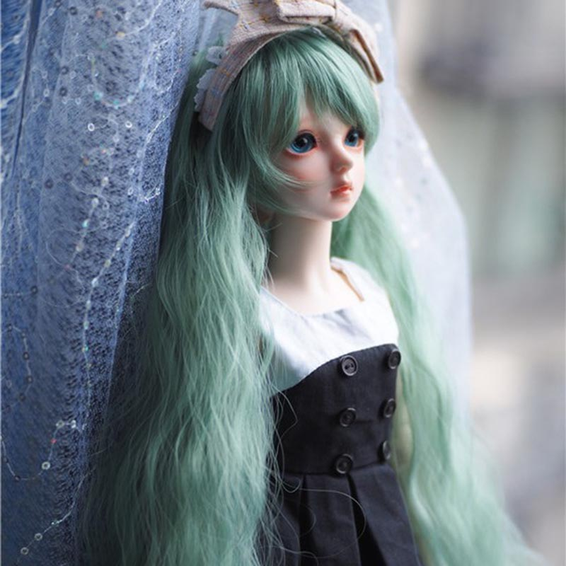 1/3 1/4 1/6 Bjd SD Doll Wig High Temperature Wire Long Fashion Style Wavy BJD Super Dollfile Hair Wig fashion black hair extension fur wig 1 3 1 4 1 6 bjd wigs long wig for diy dollfie