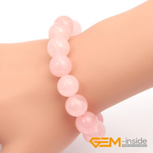8mm 10mm 12mm 14mm Natural Rose Quartzs Stone Bracelet Ajustable 7.5 Inches Luck Stone For Women For Love For Gift Free Shipping