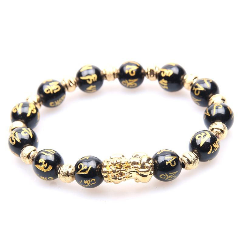 New Fashion Women Beaded Bracelet Black Beads Transfer Beads Bracelets Jewelry Holiday Gifts in Strand Bracelets from Jewelry Accessories