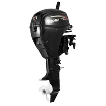 HIDEA Outboard Engine Short  Shaft  4 Stroke 8HP  Outboard Motors Black F8 Engine Rear Control Two Cylinders
