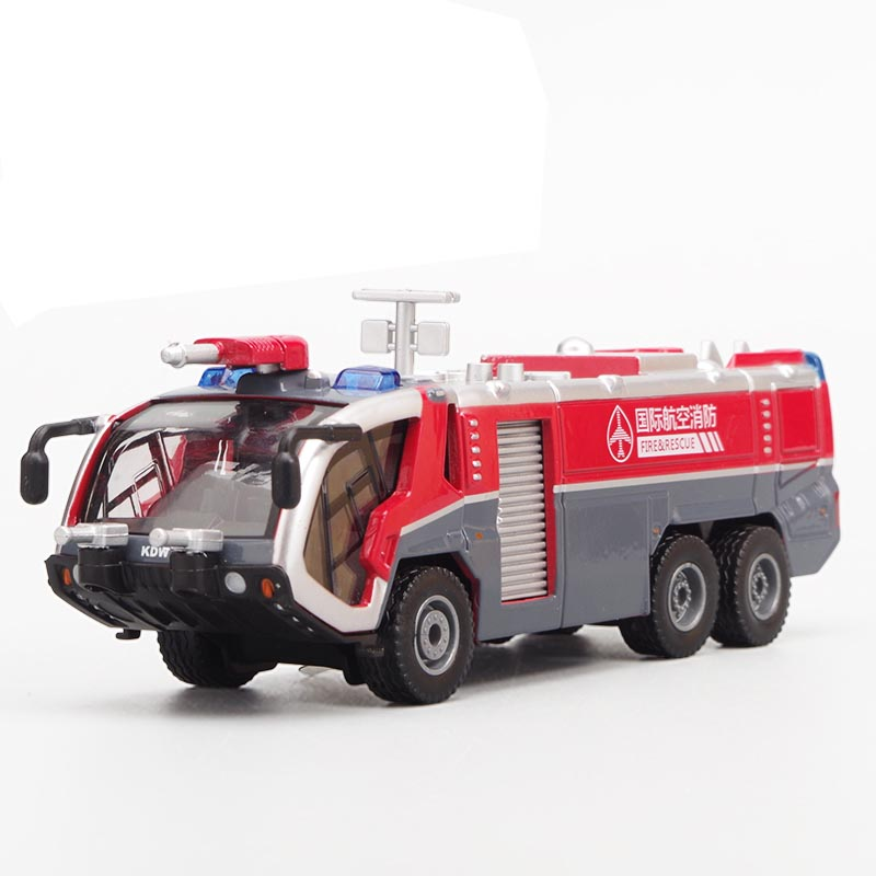 Amicable Alloy Diecast 1:50 Airfield Water Cannon /water Fire Rescue Truck Car Model Collection Gift For Kids Hobby Toy Good For Antipyretic And Throat Soother Toys & Hobbies