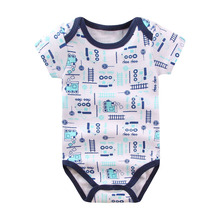 5pc 100% Cotton Cute Baby Rompers for Newborn Babies