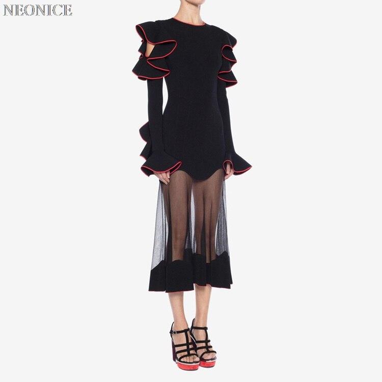 Élastique Sur Socialite Discothèque Nouveau D'anniversaire Bord Feuille 2019 Lotus Creux Sexy Bandage Robe Gaze Épissage Fête Mode Loisirs De BqHEn6wn