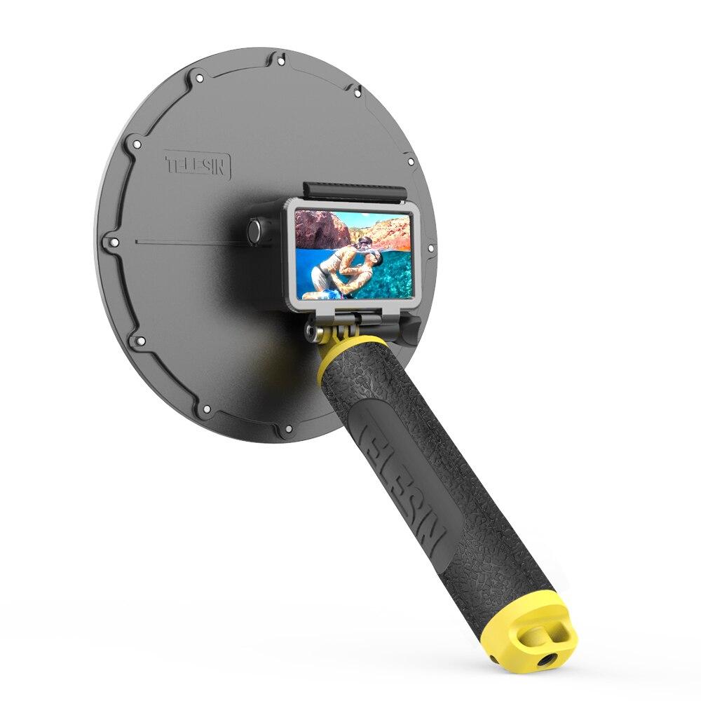 TELESIN 6 ''cubierta impermeable de Buceo Puerto domo con mango flotante para accesorios de lente de cámara de acción DJI Osmo - 5