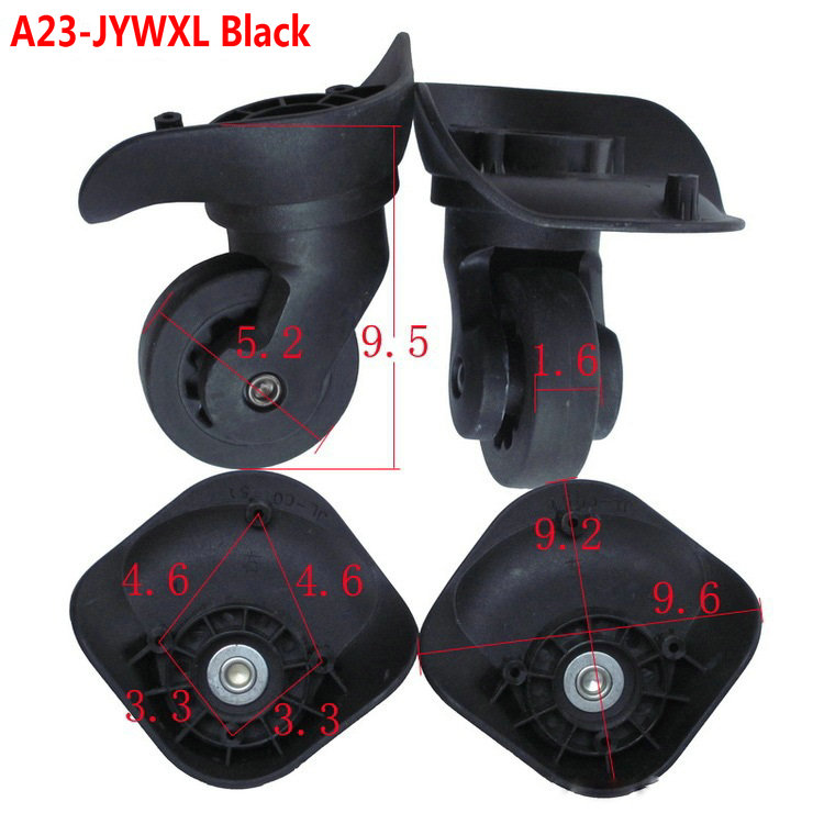 A23-JYWXL Black Wheels for suitcase