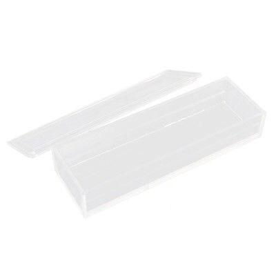 Polypropylene Rectangular 10 Microslide Slide Microscope Glass Box w Lid free shipping 4 box cover glass 400pcs 18 18mm 2 box microscope slides 100pcs microslide 25 4 76 2mm