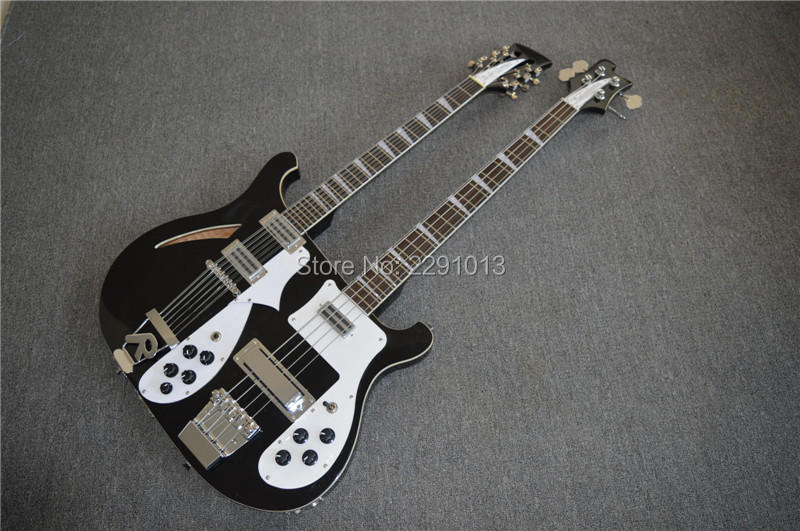 custom shop double neck 4003 bass guitar 4 strings bass 12 strings guitar best accessories best. Black Bedroom Furniture Sets. Home Design Ideas