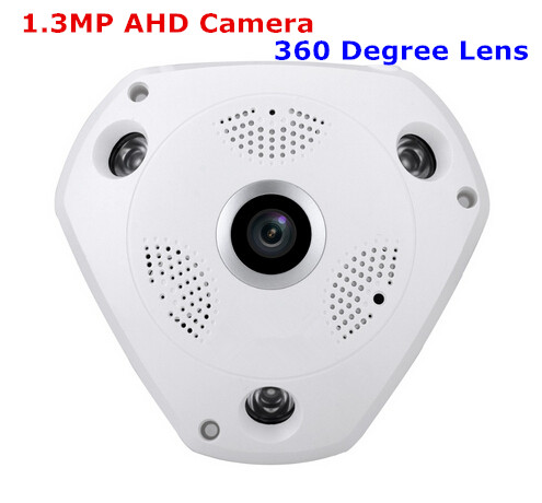 960P AHD Wide Angle FishEye 1.3MP 360Degree Lens Camera CCTV Indoor 3 ARRAY IR LED Security panoramic ip camera 720p 960p 1080p optional wide angle fisheye 5mp 1 7mm lens camera cctv indoor onvif 6 array ir led