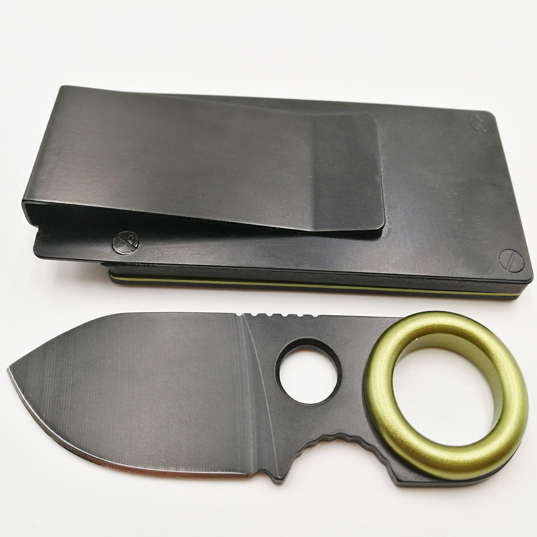 JSSQ Mini EDC Fixed Knife 7Cr17Mov Blade Survival Hunting Pocket Knives Can Hang Belt Small Tactical Camping Outdoor Tools