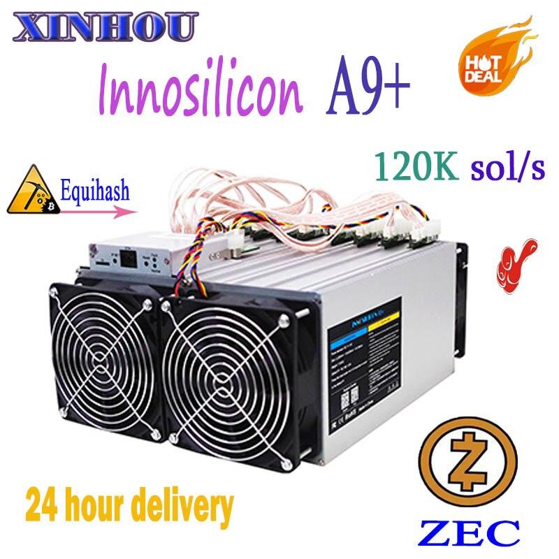 Utilisé ZEC Miner Innosilicon A9 + ZMaster 120 k sol/s Equihash Asic miner Zcash BTG extraction mieux que antminer Z9 S9 T15 M3 Z11 G28