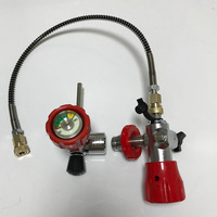 Red Safety 30Mpa VALVE For Composite Compressed Air Cylinder For Paintball Airsoft Gun Hunting FILLING STATION