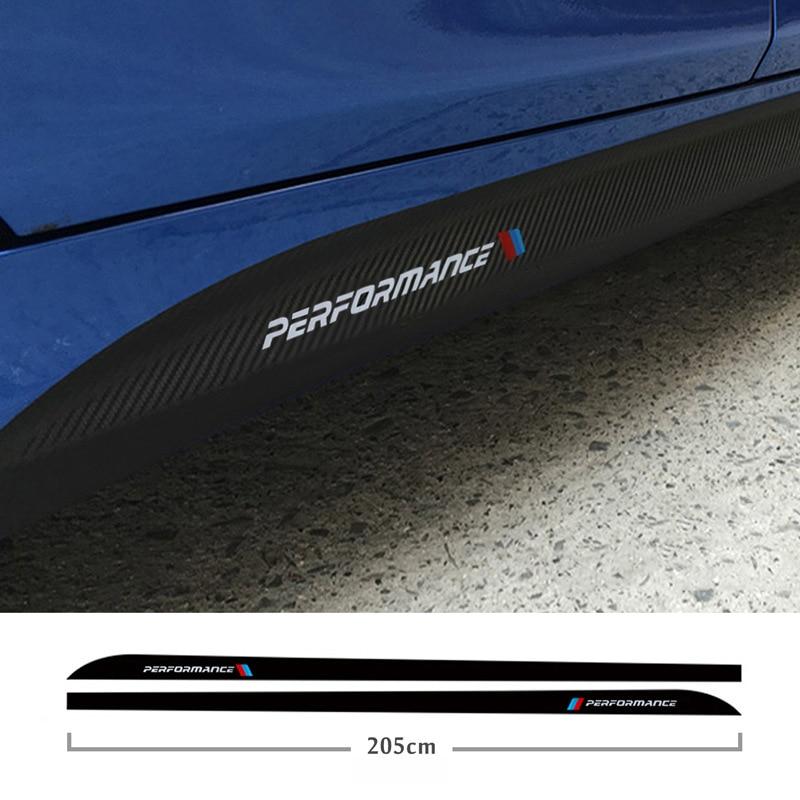 Para BMW E90 E92 E93 F20 F21 F30 F31 F32 F33 F34 F15 F10 F01 F11 F02 G30 M rendimiento falda lateral alféizar de cuerpo calcomanías etiqueta engomada