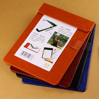 High Quality PU Leather Imitation Clipboard Writing Pad School Office Supplies Gift Stationery