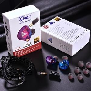 Image 3 - Original QKZ VK4 ที่มีสีสัน DD หูฟัง HIFI เบสหูฟังตัดเสียงรบกวนพร้อมไมโครโฟนเปลี่ยนสายหูฟัง