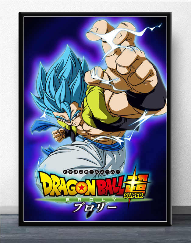 Mx093 Dragon Ball Super Ultra Instinct Goku Japan Anime Super Broly Poster Art Picture Printing Silk Canvas Home Room Wall Decor