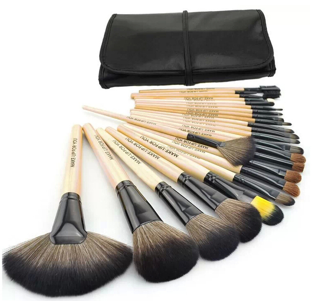 24 cosméticos maquiagem profissional escova marca Make Up Brushes Kit com caixa de ferramentas