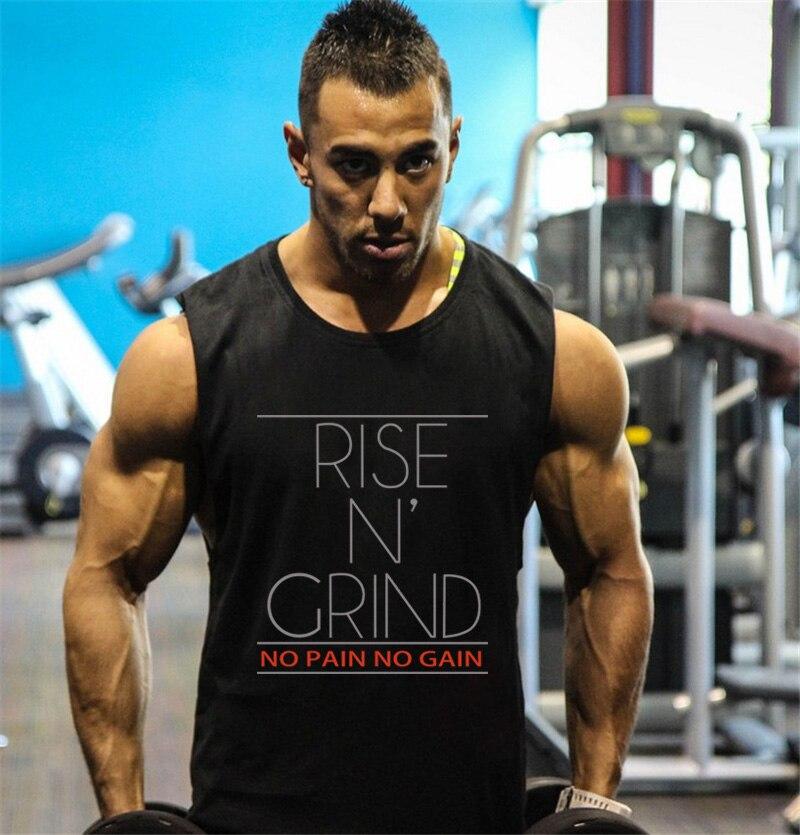 Gyms Clothing Fitness Singlets Men Bodybuilding Stringers   Tank     Tops   Sleeveless Shirt Brand Muscle Vest   tank     tops   men