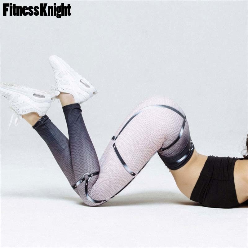 Leggings For Fitness Yoga Pants Print Yoga Leggings Women Fitness Sport Leggings Sport Pants Female Running Pants Sport Clothing black see through detail fashion sport leggings