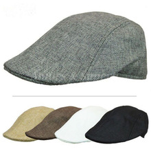 Fashion Casual Unisex Duckbill Caps Men Women Linen Beret Co