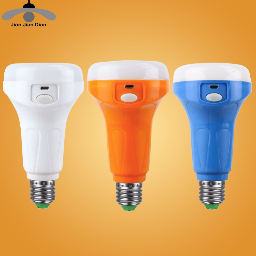 JJD E27 Base Emergency Led Bulb 9W Rechargeable Lighting Lamp 220V Bombillas LED Lamp Leds Light