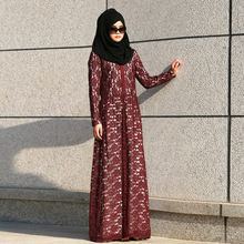 Abaya Turkish Time-limited Adult Polyester Djellaba Islamic Clothing For Women 2016 New Long Sleeves Lace Muslim Women Abaya