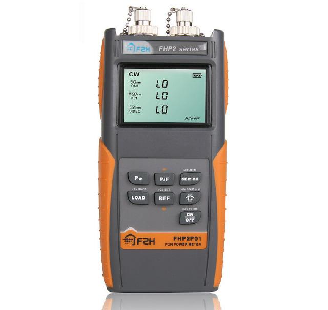 Grandway Série Medidor de Potência Óptica FHP2P01 Pon SC ST FC Conector de Energia Versátil de Alta Estável Fonte Pon Medidor De Potência Óptica