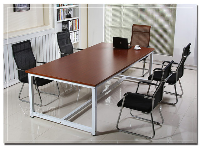Conference Tables Office Furniture Commercial Furniture Wood+metal Office  Tables Office Desk Multi Size Wholesale 240*120*74cm