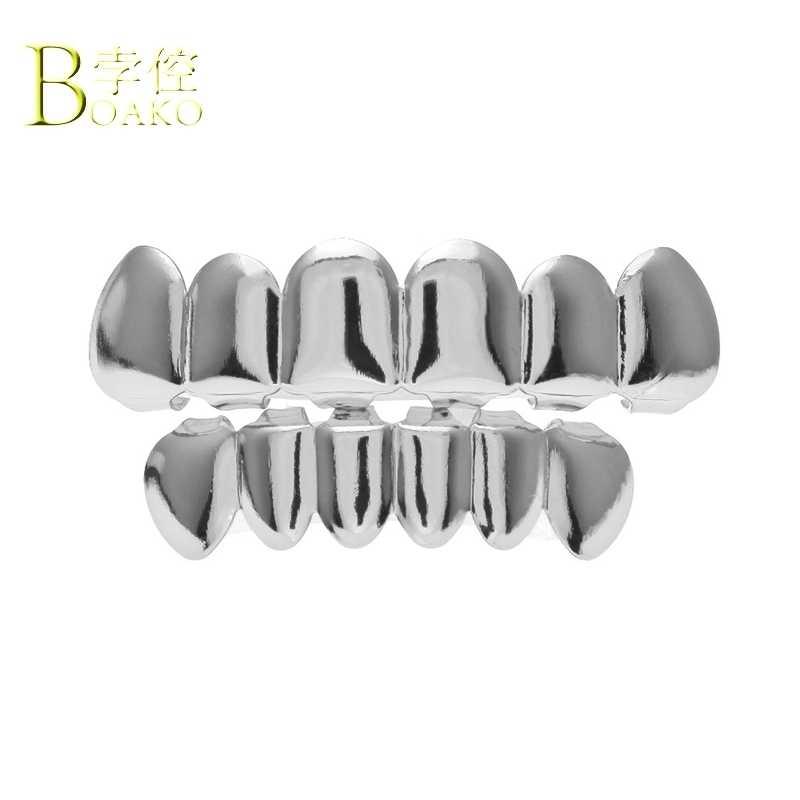 Мужские золотые зубные грили BOAKO, в стиле хип-хоп, с зубами и зубами, в стиле панк, украшения для зубов, для вечеринки в Дубае, B5