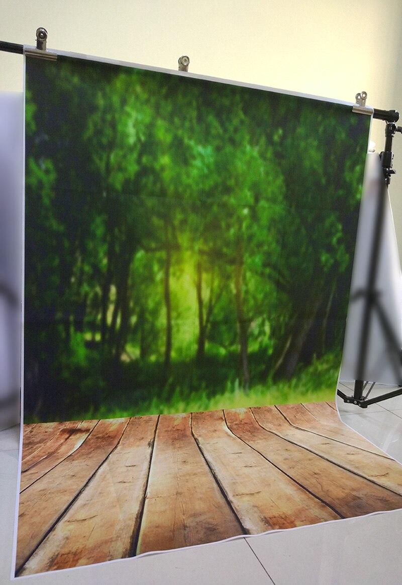 Vert forêt printemps décors sol combo nouveau-né mini fond photographique photo studio accessoires naturel scène contexte D-3725 - 3